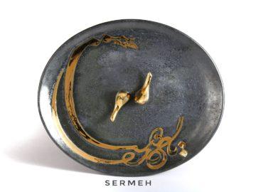 persian-pottery-Persian Handmade Tray