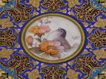 Rose and Nightingale in Persian Miniature