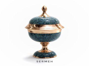 Unique Handmade Turquoise Dish